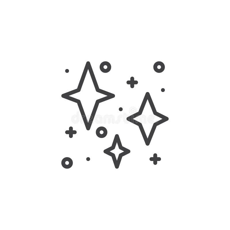 Stars outline icon vector illustration