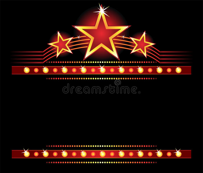 Stars over copyspace stock illustration