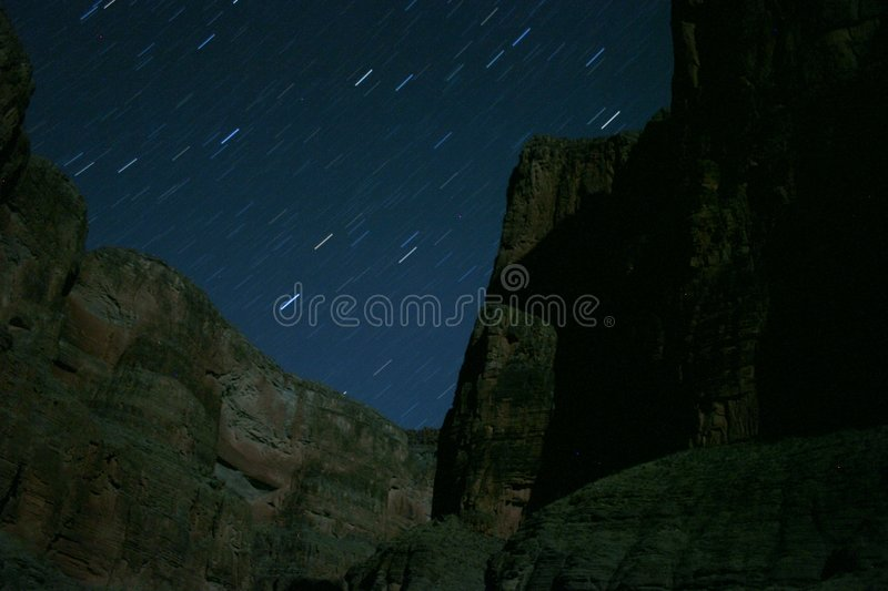 Stars over Grand Canyon stock image