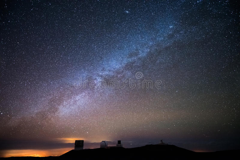 Stars over Hawaii stock photography
