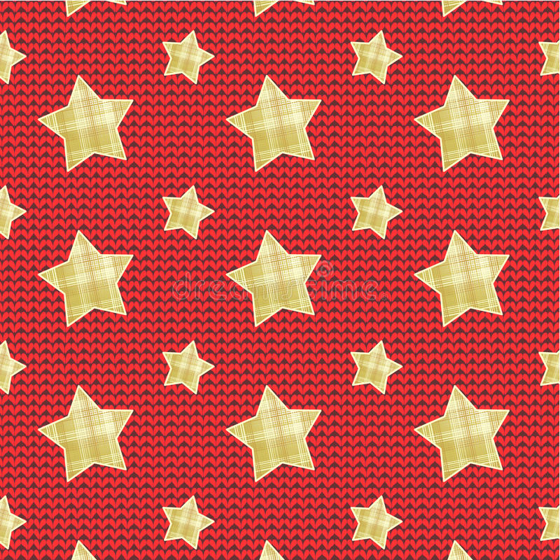 Download Stars Over Knitted Background Stock Vector - Image: 27634839