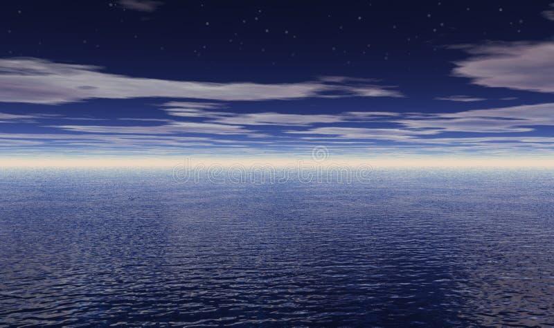 Download Stars over Ocean stock illustration. Illustration of nature - 13107113