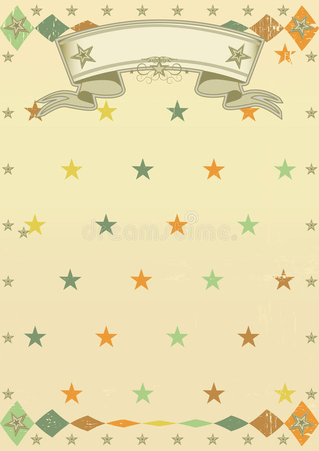 Stars pattern poster stock photos