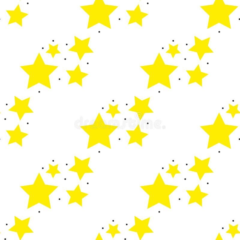 Stars pattern. Seamless vector illustration. Retro, vintage background Vector illustration stock illustration