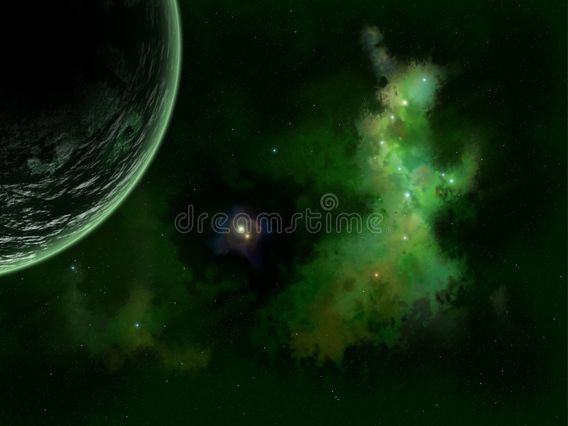 Stars and planet royalty free stock images
