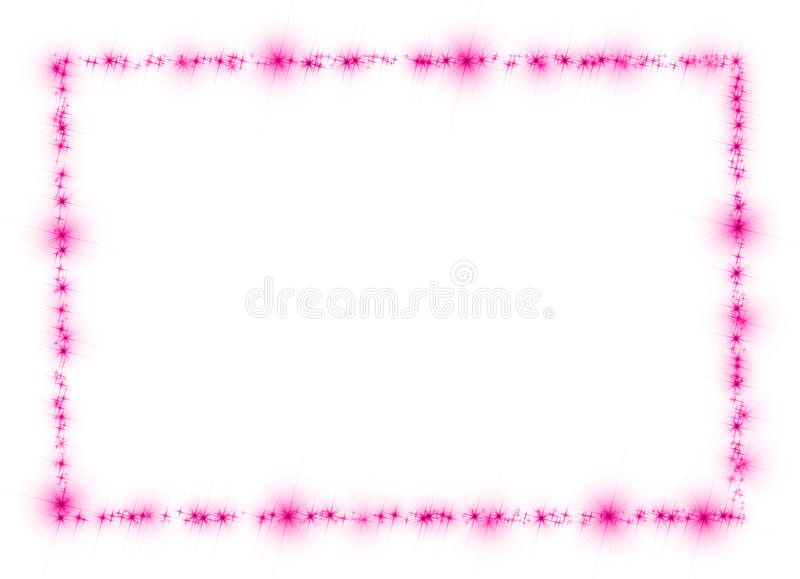 Download Stars Purple Frame Isolated White Stock Image - Image: 31454883