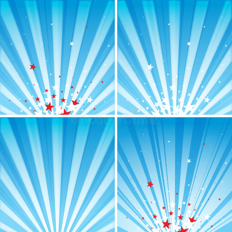 Stars And Rays Stock Photo