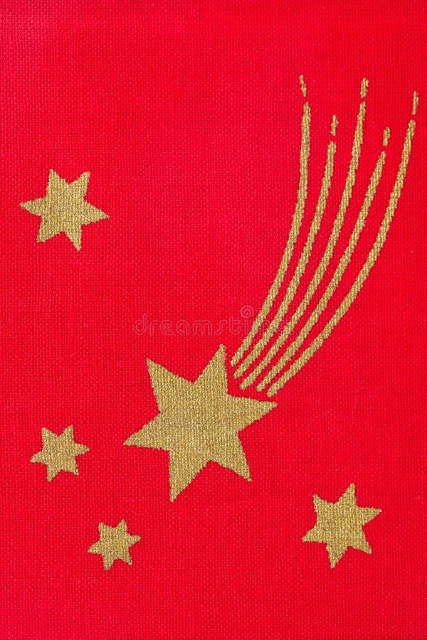 Stars on red fabric