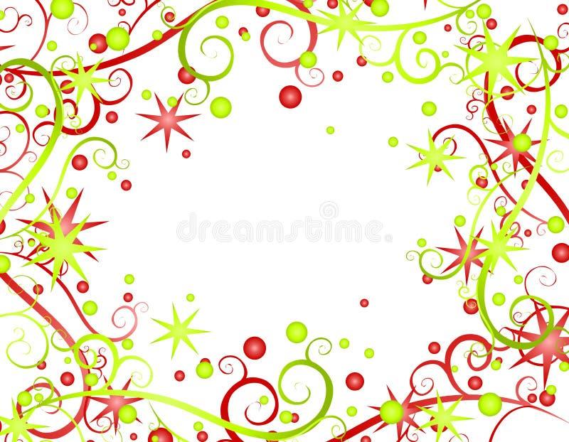 Stars Ribbons Christmas Background 2
