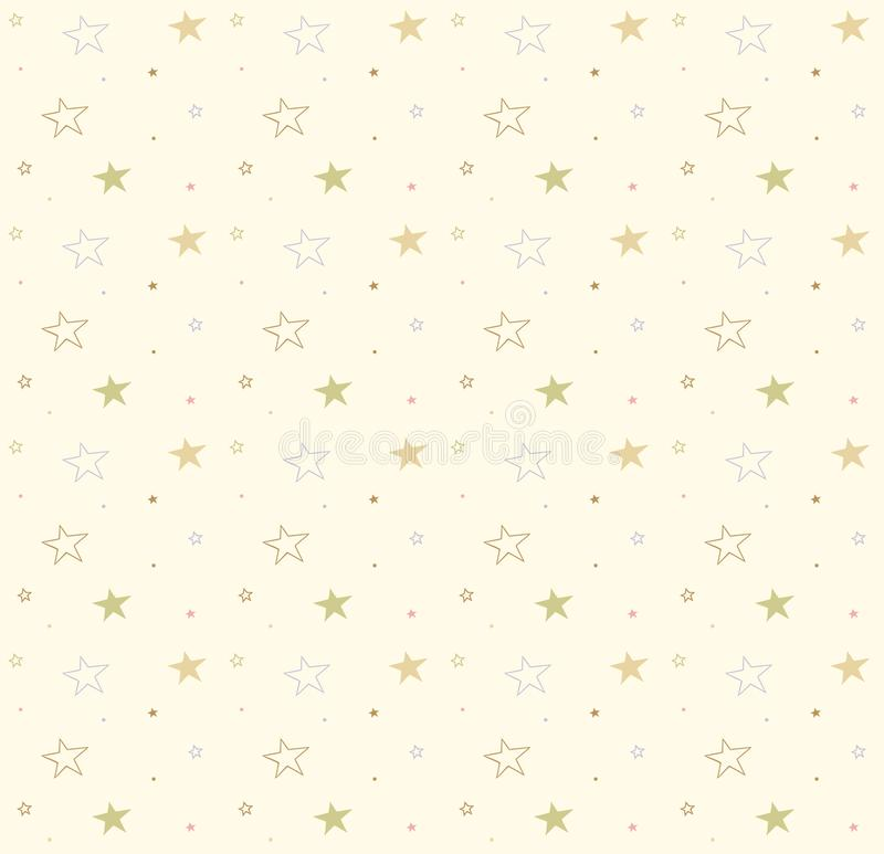 Stars on the seamless background. Vector cute pattern. Decorative texture. royalty free illustration