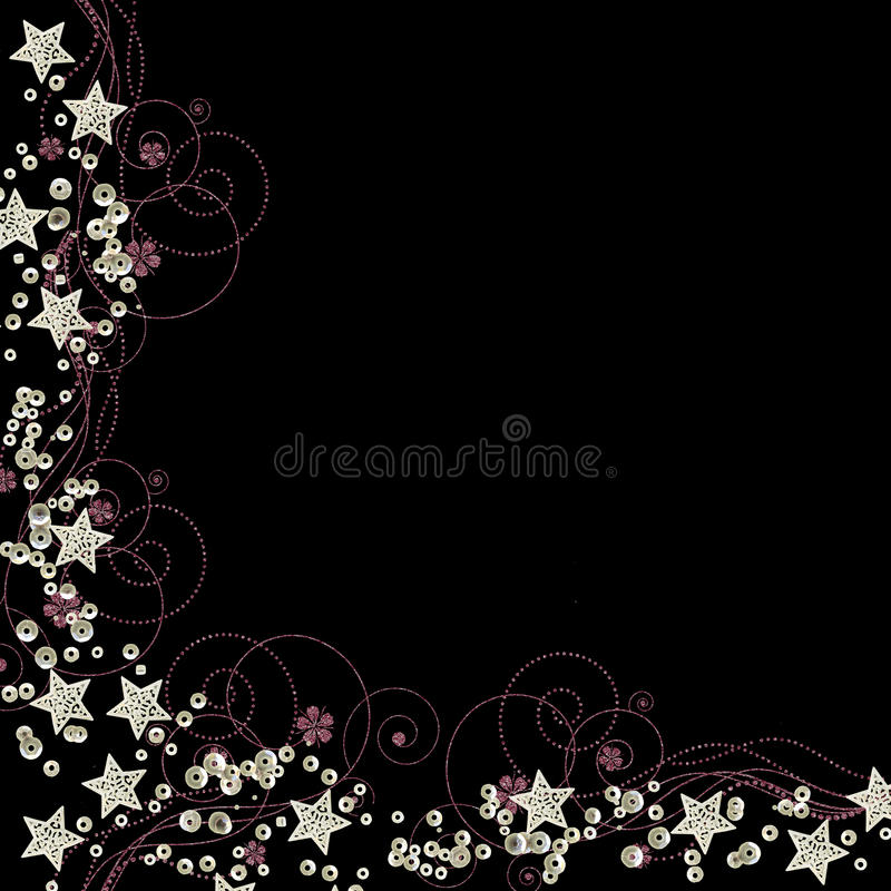 Stars and sequins border vector vector illustration