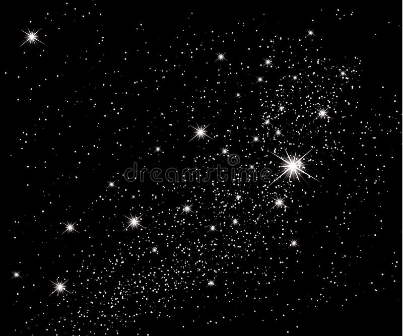 Stars in the sky. Vector background
