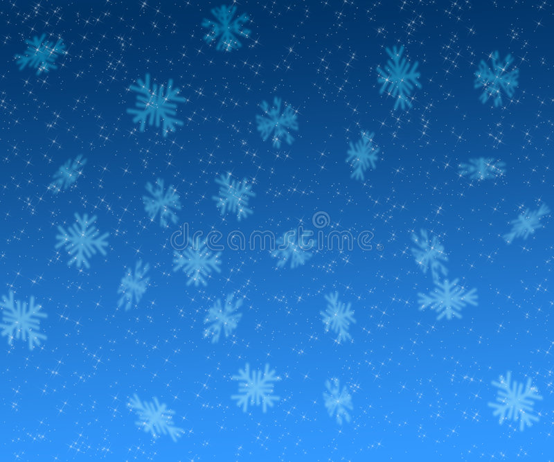 Stars and snowflakes christmas background stock illustration