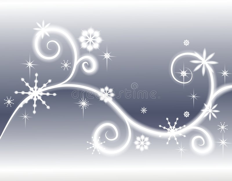 Download Stars Snowflakes Silver Background Stock Illustration - Illustration of sparkle, abstract: 3696975