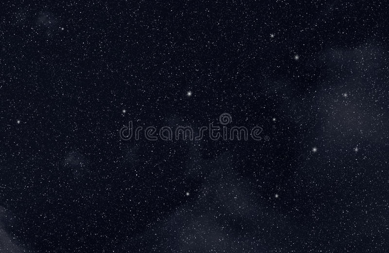 Stars in the space stock illustration
