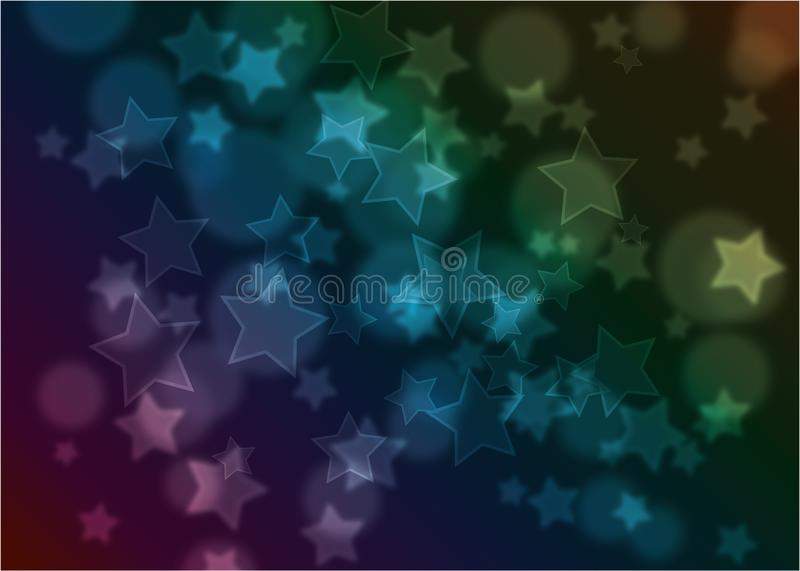 Stars special background bokeh royalty free stock image