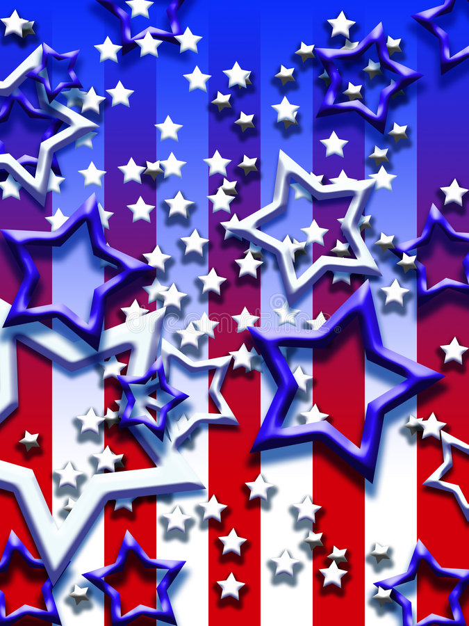Stars and stripes vector illustration
