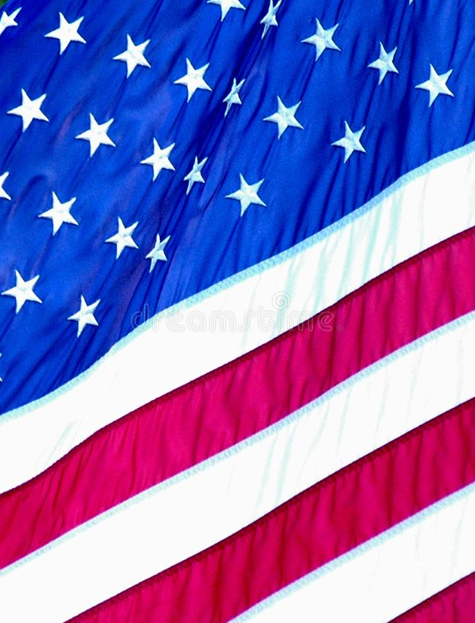 Stars and stripes of the American Flag. stock images