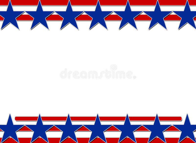 stars and stripes background stock illustration