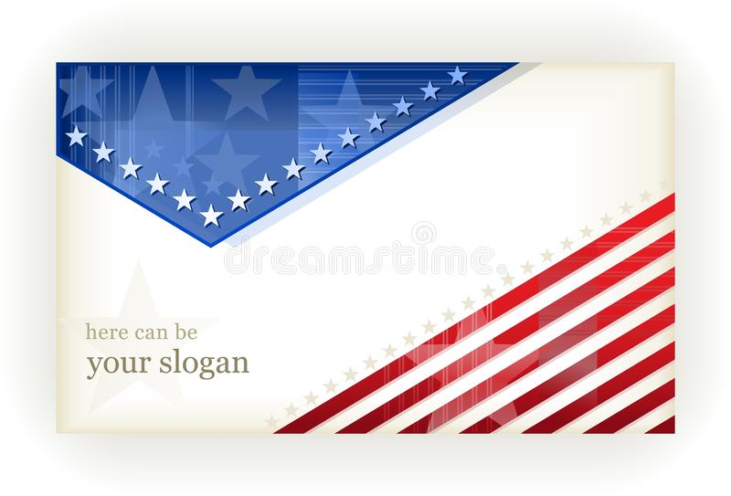 Stars and Stripes, background, business, gift card vector illustration