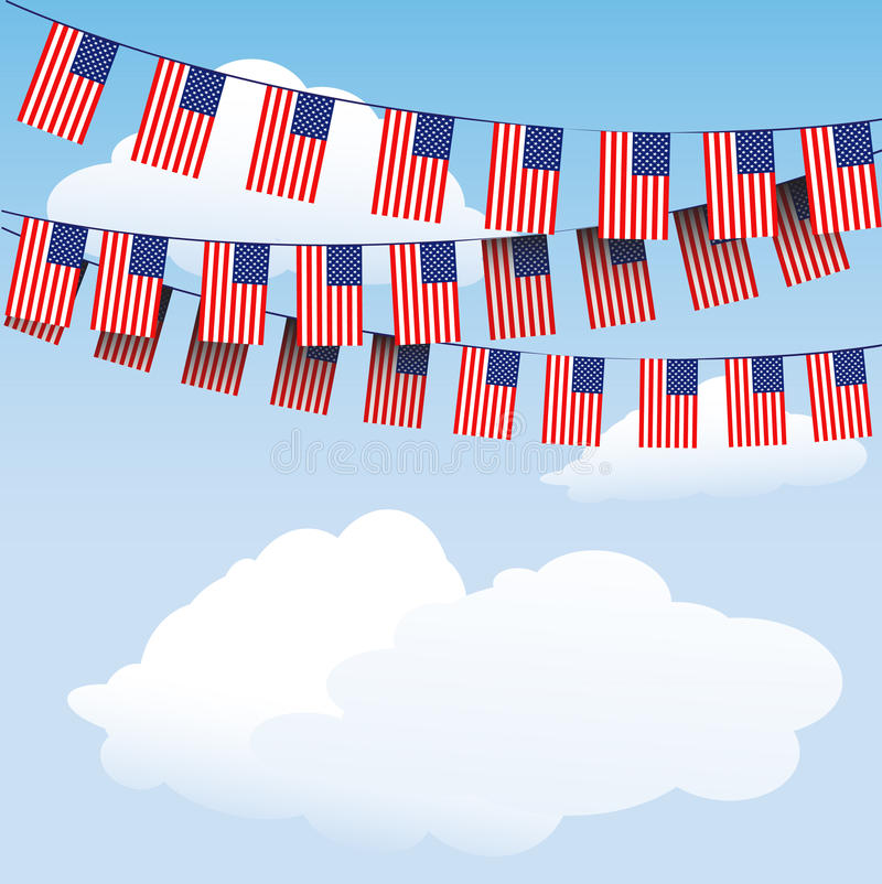 Download Stars And Stripes Bunting Flags Stock Vector - Image: 23087588