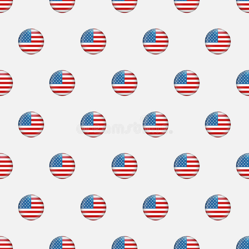 Download Stars And Stripes Seamless Pattern. USA Independence Day Festive Vector Repeatable Textures Based On American Flag Stock Vector - Illustration: 92613495