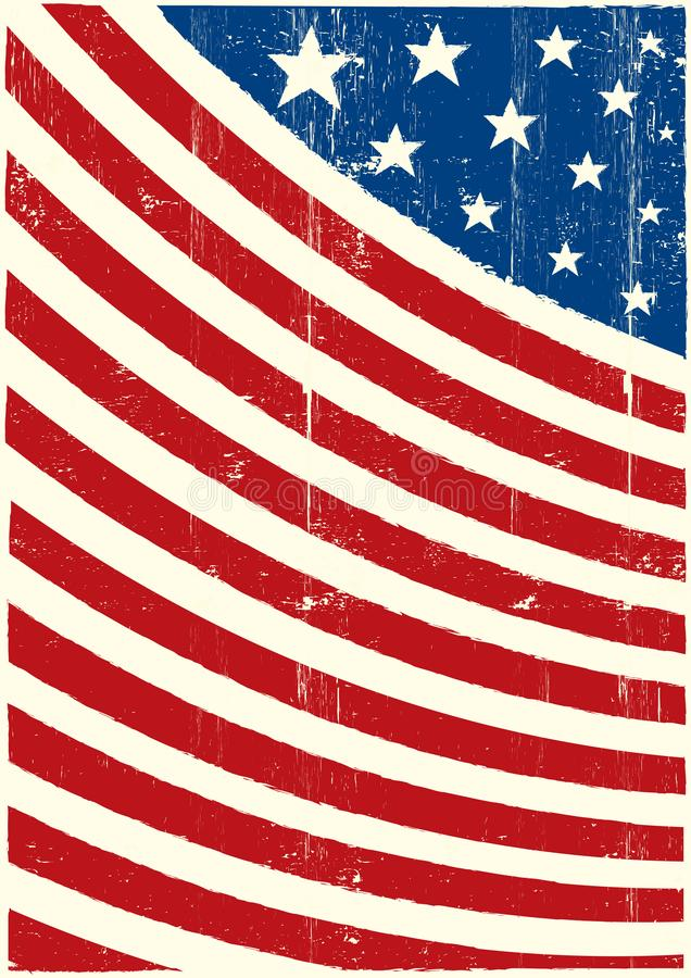 Stars and stripes texture fresh painting royalty free stock photography