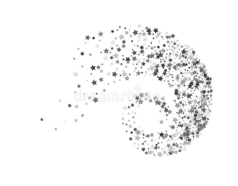 stars twisted in swirl or vortex stock vector