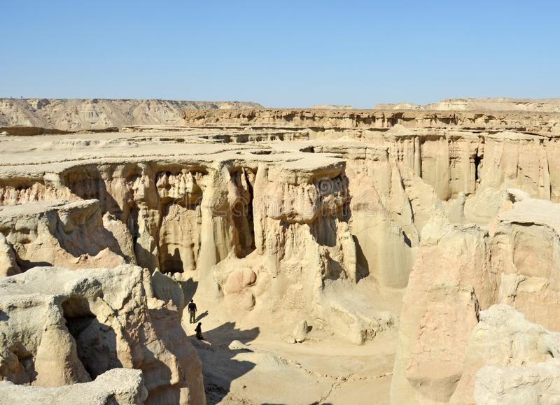 Stars valley, Qeshm Island, Iran. The landscape of Stars valley in Qeshm Island of Persian Gulf, Iran. A natural monument in Qeshm Geopark royalty free stock photos