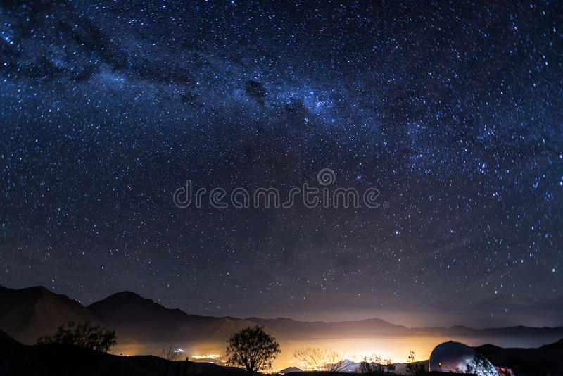 Stars of Vicuna, Chile royalty free stock photo