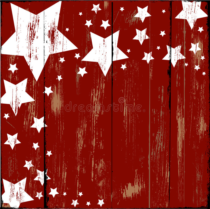Stars on Wood. Old Wooden sign with a stars painted on it royalty free illustration