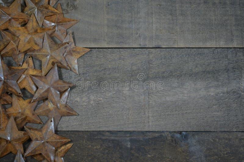 Stars on Wood stock photo