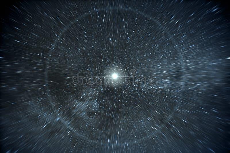 Stars Zeitverzerrung lizenzfreies stockfoto
