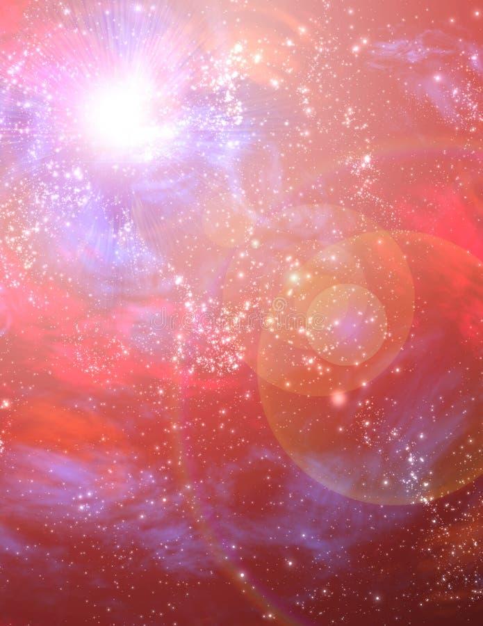 Starscape rouge illustration libre de droits