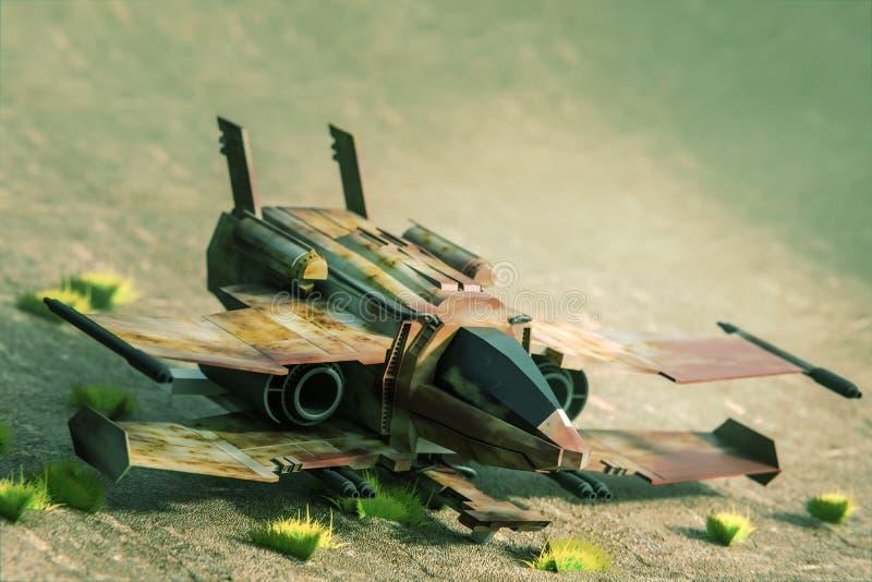 Starship毁损 免版税图库摄影
