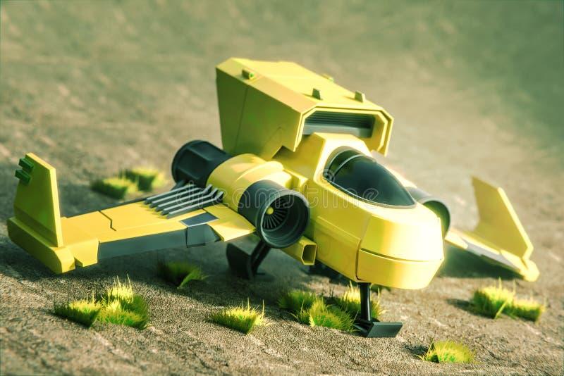 Starship毁损 免版税库存照片