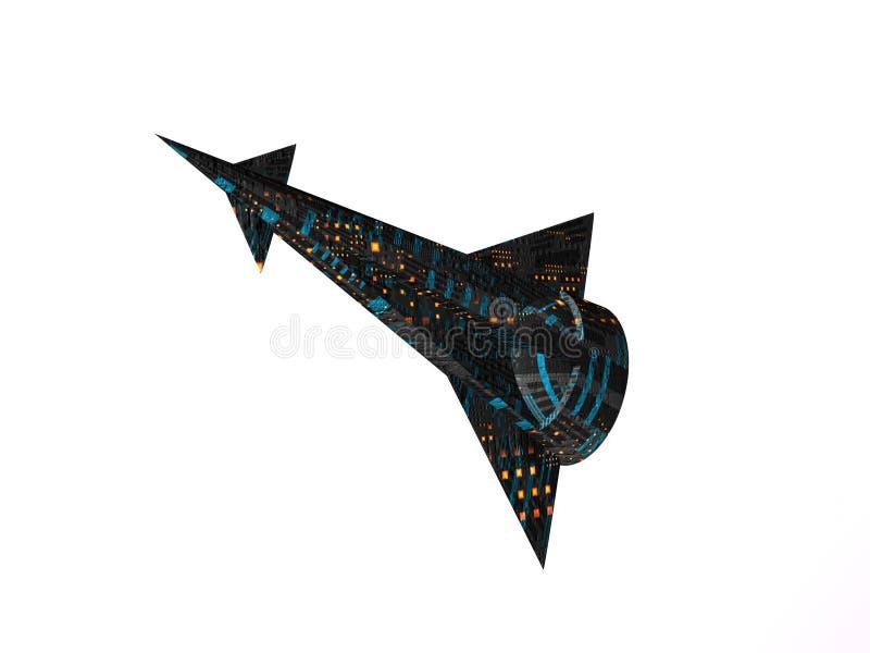starship för kryssarelampa en vektor illustrationer