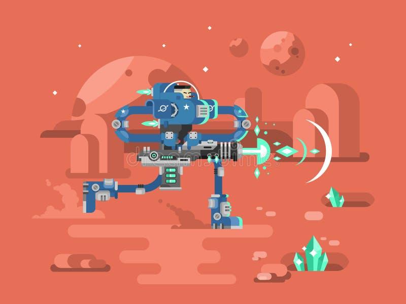 Starship kawalerzystów charakter ilustracja wektor