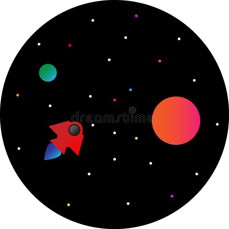 Starshipillustratie stock illustratie