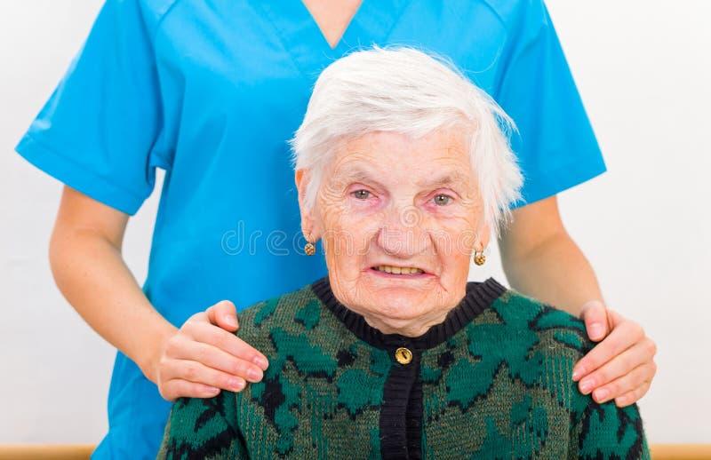 Starsza domowa opieka zdjęcia stock