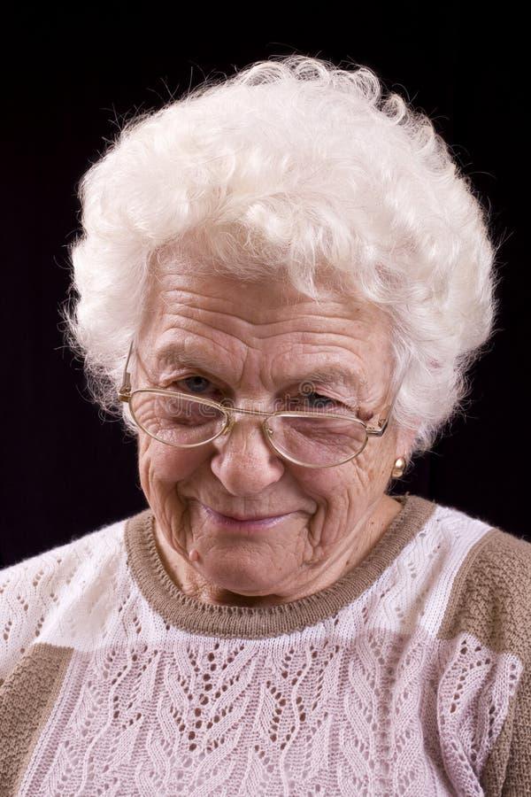 starsza kobieta zdjęcie stock