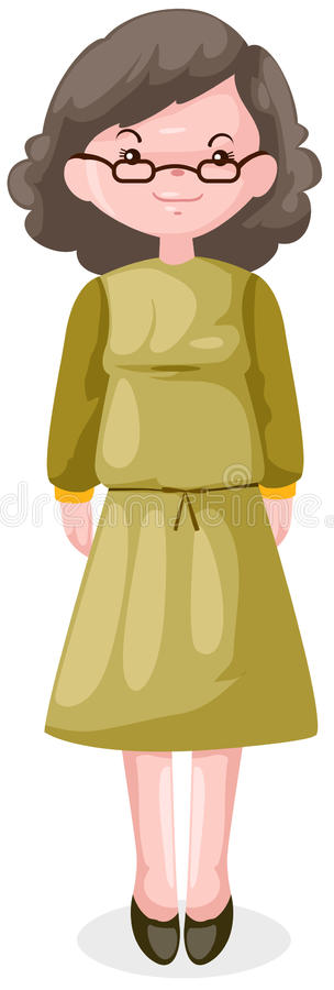 starsza kobieta ilustracja wektor