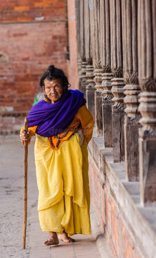 Starsza kobieta. obraz royalty free