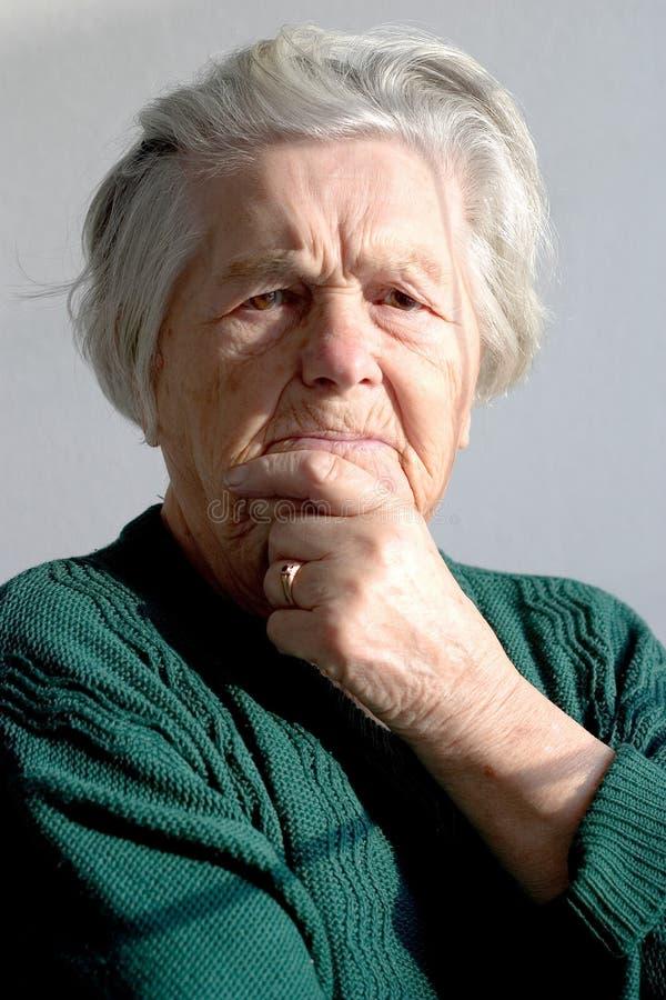 starsza kobieta fotografia stock