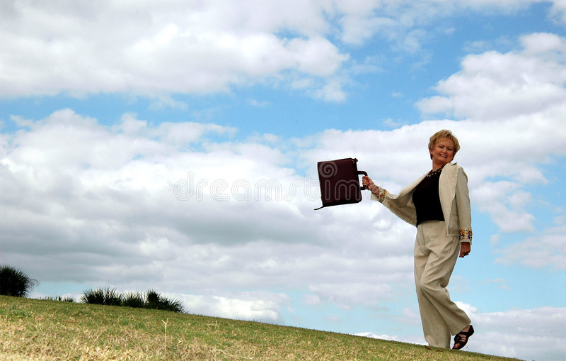 starsza kobieta szczęśliwa jednostek gospodarczych zdjęcia stock
