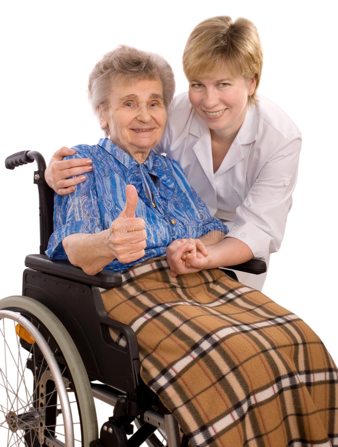 starsza kobieta wózek obraz royalty free