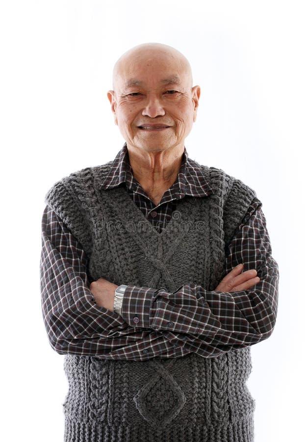 starsza osoba azjatykci mężczyzna zdjęcia stock