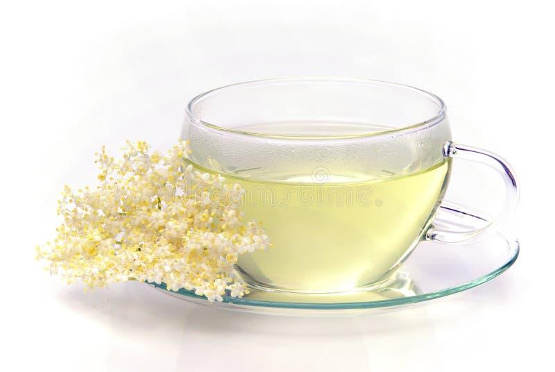 Starsza osoba herbaciany kwiat zdjęcie royalty free