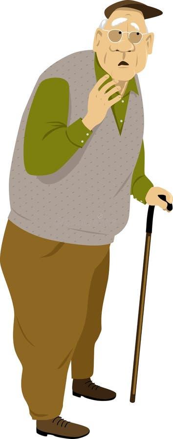 Starsza osoba mężczyzny charakter royalty ilustracja