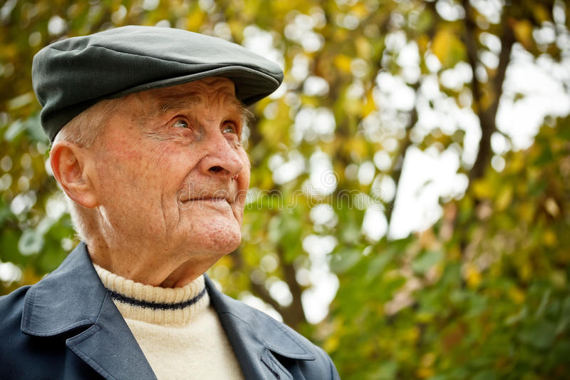 Starsza osoba mężczyzna obraz royalty free
